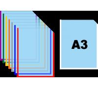 Карман для стендов формата А3 самоклеящийся вертикальный