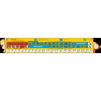 Линейка гласных согласных букв и написание цифр