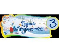 """Табличка для группы детского сада """"Льдинка"""""""