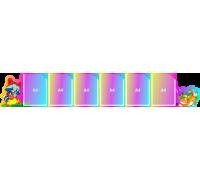 Папка-передвижка (ширма) на 6 вертикальных карманов А4