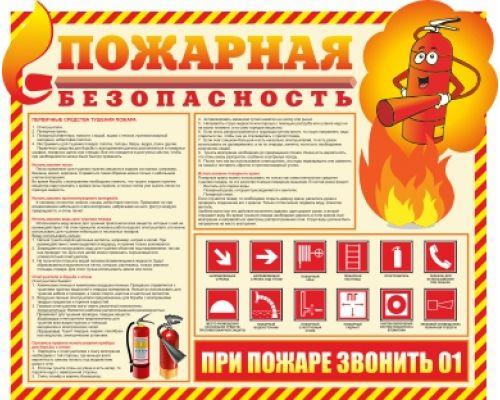 """Стенд  """"Пожарная безопасность"""""""