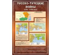 """Стенд """"РУССКО-ТУРЕЦКИЕ ВОЙНЫ (XVII-XVIII века)"""""""