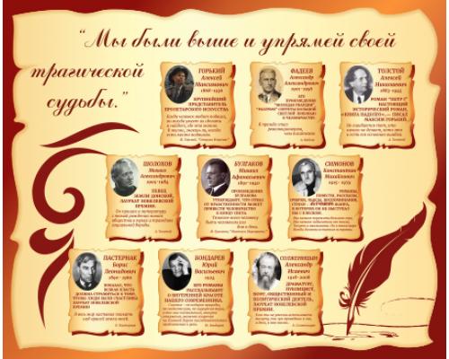Оформление кабинета русского языка и литературы