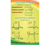 """Стенд """"Квадратное уравнение, квадратная функция"""""""